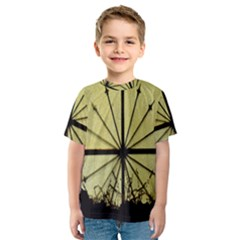 Window About Glass Metal Weathered Kids  Sport Mesh Tee