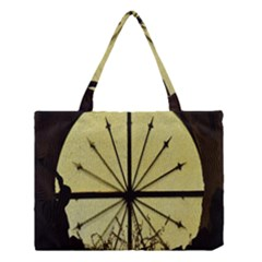 Window About Glass Metal Weathered Medium Tote Bag by Sapixe