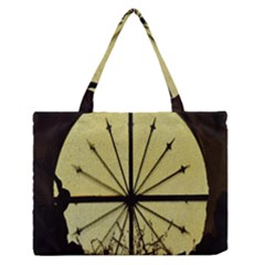 Window About Glass Metal Weathered Zipper Medium Tote Bag by Sapixe