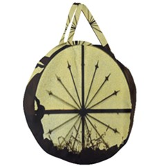 Window About Glass Metal Weathered Giant Round Zipper Tote by Sapixe