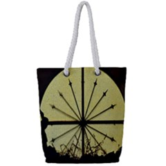 Window About Glass Metal Weathered Full Print Rope Handle Tote (small) by Sapixe