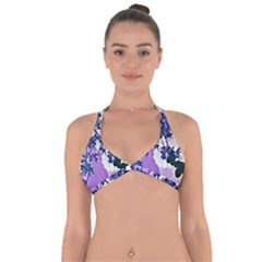 Blossom Bloom Floral Design Halter Neck Bikini Top