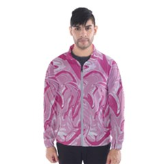Pink Marble Painting Texture Pattern Windbreaker (men)