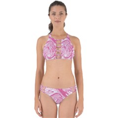 Pink Marble Painting Texture Pattern Perfectly Cut Out Bikini Set