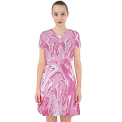 Pink Marble Painting Texture Pattern Adorable In Chiffon Dress