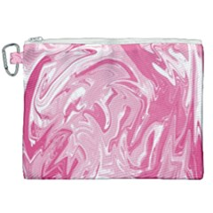 Pink Marble Painting Texture Pattern Canvas Cosmetic Bag (xxl) by Sapixe