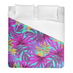 Tropical Greens Leaves Design Duvet Cover (full/ Double Size) by Sapixe