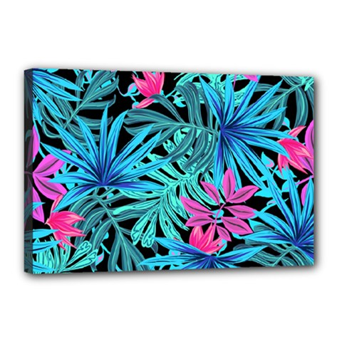 Leaves Picture Tropical Plant Canvas 18  X 12  (stretched) by Sapixe