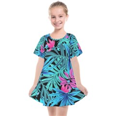 Leaves Picture Tropical Plant Kids  Smock Dress
