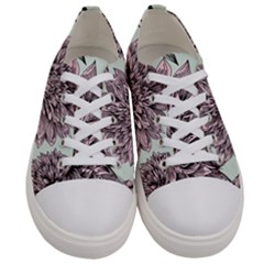 Flowers Flower Rosa Spring Women s Low Top Canvas Sneakers