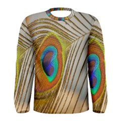 Peacock Feather Feather Bird Men s Long Sleeve Tee
