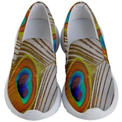 Peacock Feather Feather Bird Kid s Lightweight Slip Ons