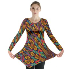 Background Abstract Texture Long Sleeve Tunic