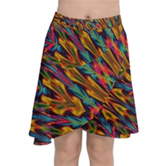 Background Abstract Texture Chiffon Wrap Front Skirt