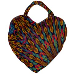 Background Abstract Texture Giant Heart Shaped Tote by Sapixe