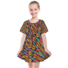 Background Abstract Texture Kids  Smock Dress by Sapixe