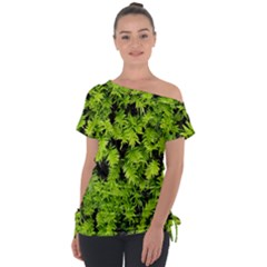 Green Hedge Texture Yew Plant Bush Leaf Tie Up Tee