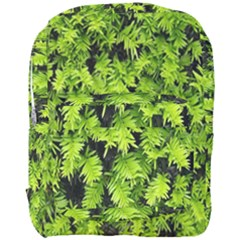 Green Hedge Texture Yew Plant Bush Leaf Full Print Backpack by Sapixe