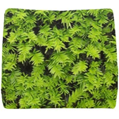 Green Hedge Texture Yew Plant Bush Leaf Seat Cushion by Sapixe