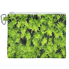 Green Hedge Texture Yew Plant Bush Leaf Canvas Cosmetic Bag (xxl) by Sapixe