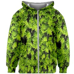 Green Hedge Texture Yew Plant Bush Leaf Kids Zipper Hoodie Without Drawstring by Sapixe