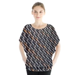 Rattan Wood Background Pattern Blouse by Sapixe