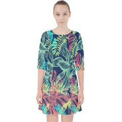Leaves Tropical Picture Plant Pocket Dress by Sapixe