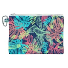 Leaves Tropical Picture Plant Canvas Cosmetic Bag (xl) by Sapixe
