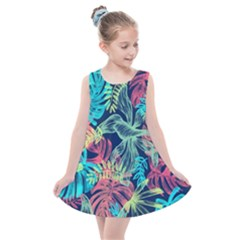 Leaves Tropical Picture Plant Kids  Summer Dress by Sapixe