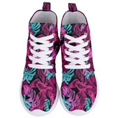 Leaves Drawing Reason Pattern Women s Lightweight High Top Sneakers