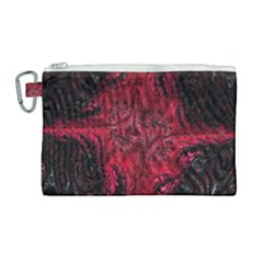 Wgt Fractal Red Black Pattern Canvas Cosmetic Bag (large) by Sapixe
