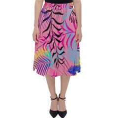 Illustration Reason Leaves Design Folding Skater Skirt