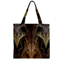 Fractal Art Graphic Design Image Zipper Grocery Tote Bag by Sapixe