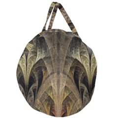 Fractal Art Graphic Design Image Giant Round Zipper Tote