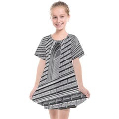 Brickwork Stone Building Facade Kids  Smock Dress