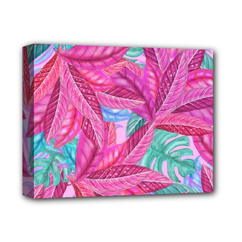 Leaves Tropical Reason Stamping Deluxe Canvas 14  X 11  (stretched)