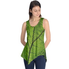 Butterbur Leaf Plant Veins Pattern Sleeveless Tunic