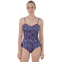 Modern Abstract Texture Pattern Sweetheart Tankini Set by dflcprints