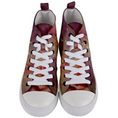 Wonderful Roses With Butterflies And Light Effects Women s Mid Top Canvas Sneakers