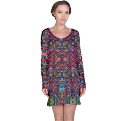 Color Maze Of Minds Long Sleeve Nightdress