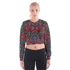 Color Maze Of Minds Cropped Sweatshirt