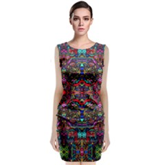 Color Maze Of Minds Classic Sleeveless Midi Dress
