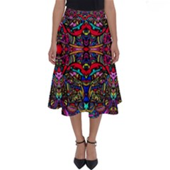Color Maze Of Minds Perfect Length Midi Skirt