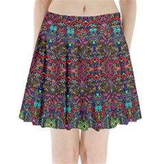 Color Maze Of Minds Pleated Mini Skirt