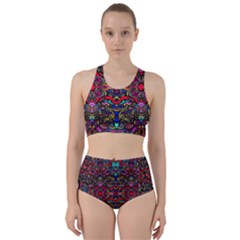 Color Maze Of Minds Racer Back Bikini Set