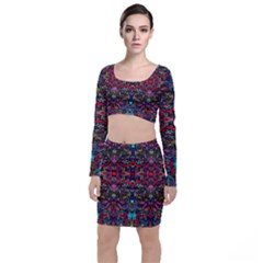 Color Maze Of Minds Top And Skirt Sets