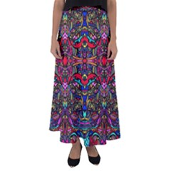 Color Maze Of Minds Flared Maxi Skirt