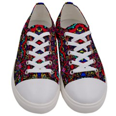 Color Maze Of Minds Women s Low Top Canvas Sneakers