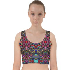 Color Maze Of Minds Velvet Racer Back Crop Top