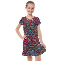 Color Maze Of Minds Kids  Cross Web Dress by MRTACPANS